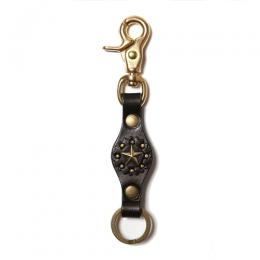 LEATHER KEY RING <STAR STUDS> [17SS1008]