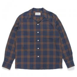 OMBRAY CHECK OPEN COLLAR SHIRT