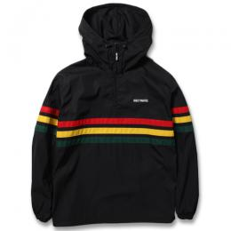 RASTA STRIPED LINE PULLOVER HOODED JACKET (TYPE-1)