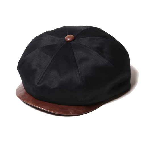 TWILL / LEATHER COMBINATION CASQUETTE  [17SS040]