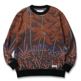 """PALMS TREE"" JACQUARD SWEATER"