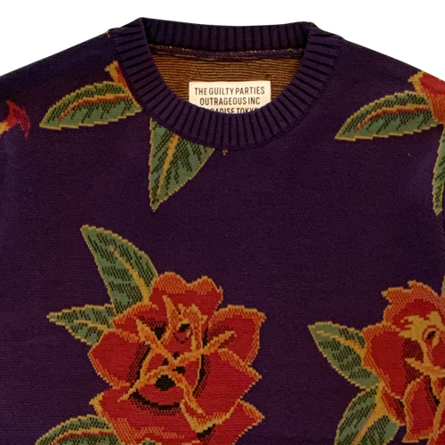 FLOWER JACQUARD SWEATER