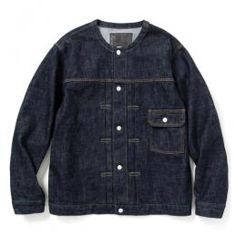 1st TYPE NO COLLAR DENIM JACKET