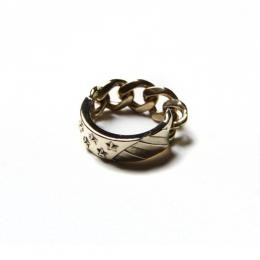 THE STARS AND STRIPES CHAIN RING <BRASS>