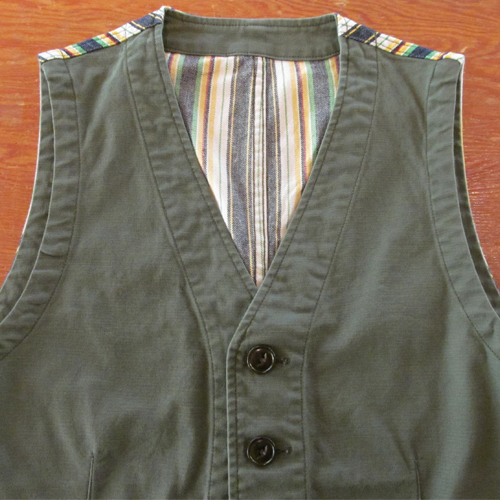 STRETCH COTTON OX 5B VEST ★30%OFF★