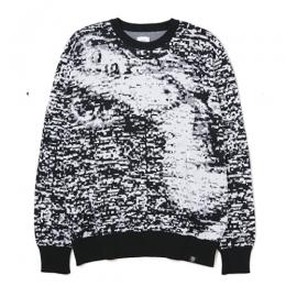 "C-NECK JACQUARD KNIT SWEATER ""WRIGHT"" ★30%OFF★"