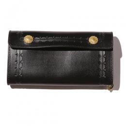EMBOSSING LEATHER FLAP LONG WALLET  [17SS1002]