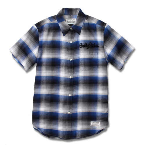 RAYON OMBRE CHECK REGULAR COLLARED SHIRT S/S