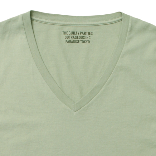 V NECK COLOR T-SHIRT