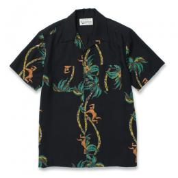 PALMS TREE CLIMBER S/S HAWAIIAN SHIRT