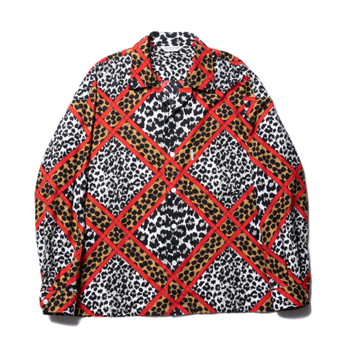 Crazy Leopard Open-Neck L/S Shirt