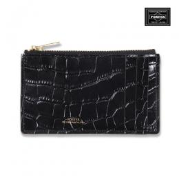 CROCODILE EMBOSSED COIN CASE <PORTER>