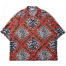 Crazy Leopard Open-Neck S/S Shirt