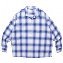 Ombre Check Open Collar Shirt