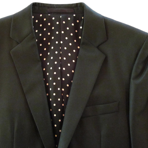 NARROW LAPEL TAILORED JKT (DOTS) <LORO PIANA>