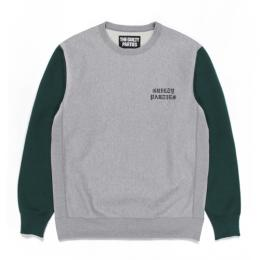 TWO-TONE HEAVY WEIGHT CREW NECK SWEAT SHIRT