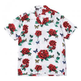 "S/S OPEN COLLAR ORG ALOHA SHIRT ""ROGERS"" ★30% OFF★"