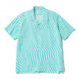 "S/S O/C ORG PRINT SHIRT ""ROGERS"" (DAZZLE) ★30% OFF"