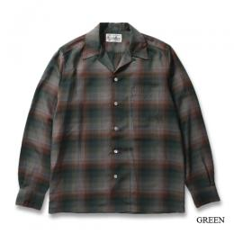 OMBRAY CHECK OPEN COLLAR SHIRT (TYPE-9)