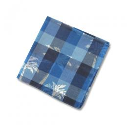 PALM TREE PATTERN INDIAN MADRAS  POCKET CHIEF