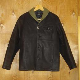 LEATHER SHAWL COLLAR JKT ★50%OFF★