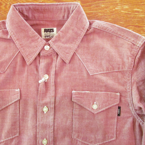 CHAMBRAY WESTERN SHIRTS ★50%OFF★