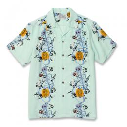 """PRINTED MONSTER"" S/S HAWAIIAN SHIRT (TYPE-2)"