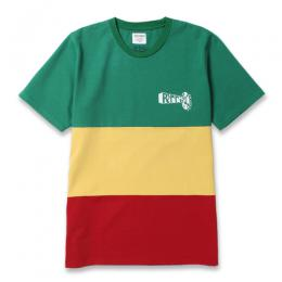 LEE PERRY RASTA STRIPED CREW NECK T-SHIRT (TYPE-3)