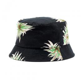 ALLOVER FLOWER PATTEN LINEN BUCKET HAT