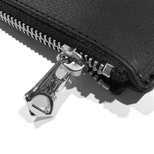 SILVER PLATE LEATHER CLUTCH BAG