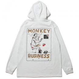 Hooded Print L/S Tee (MONKEY BUSINESS)
