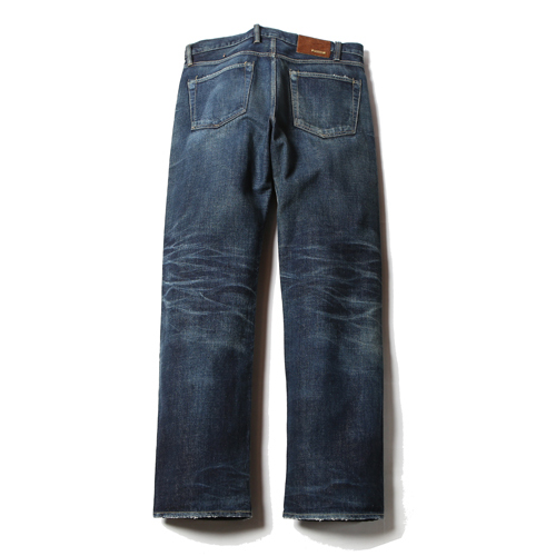 FIVE POCKET USED STRAIGHT SLIM DENIM PANT [16S035]