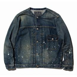 USED 1st TYPE NO COLLAR DENIM JACKET ★30% OFF★