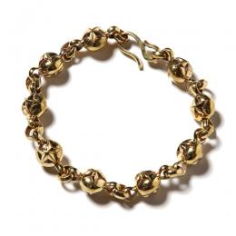 STAR BALL KEY CHAIN BRACELET <BRASS> [17SS036AC]