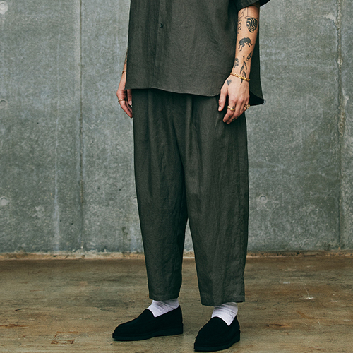 Linen 2 Tuck Easy Pants