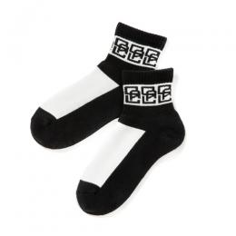 MONOGRAM PATTERN SHORT SOCKS