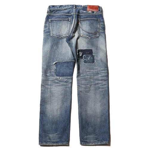 CRASH REPAIR TAPERED SLIM DENIM PANTS [17SS084]
