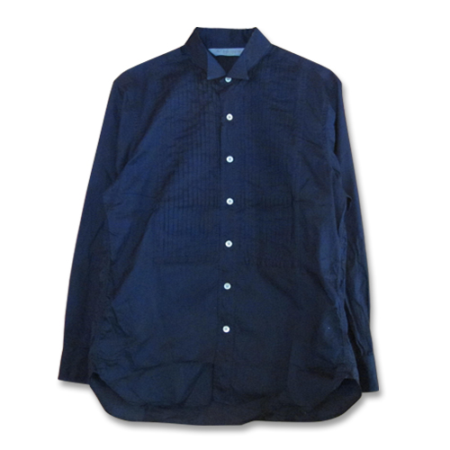INDIGO LAWN WING COLLAR SHIRT ★40%OFF★
