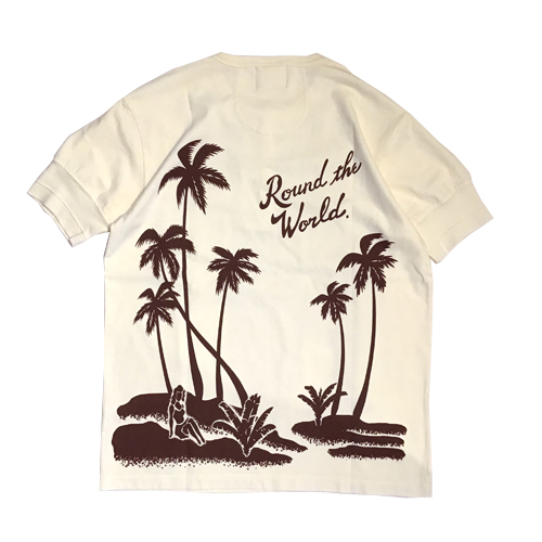 ROUND THE WORLD - S/S HENRY NECK T-SHIRT