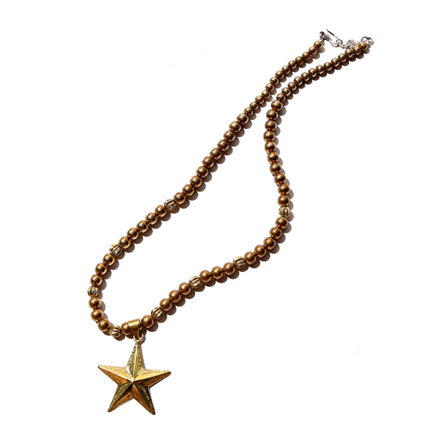JEWELRY BEADS STAR NECKLACE <BRASS> [16ST046AC]