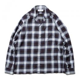 Rayon Check Open Collar LS Shirt