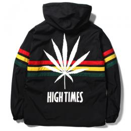 HIGHTIMES × WACKO MARIA RASTA STRIPED LINE P/O JKT