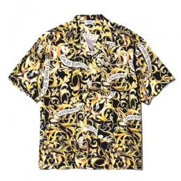 ALLOVER LEAF PATTERN S/S SHIRT