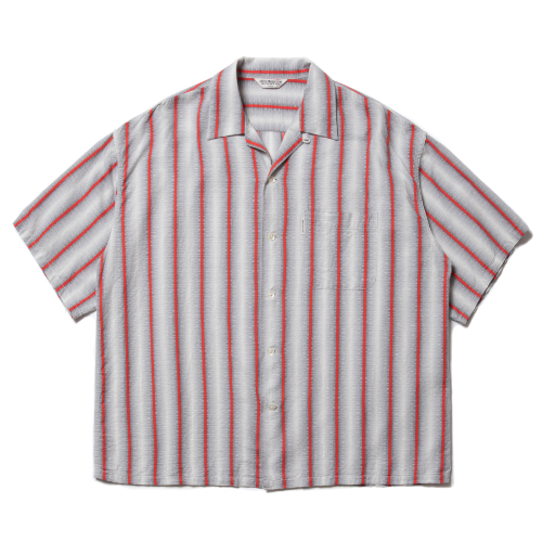 Snake Stripe Open-Neck S/S Shirt