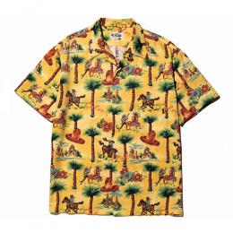 ALLOVER WESTERN PATTERN S/S SHIRT
