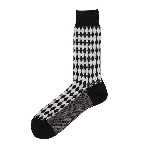 DIAMOND JACQUARD SOCKS