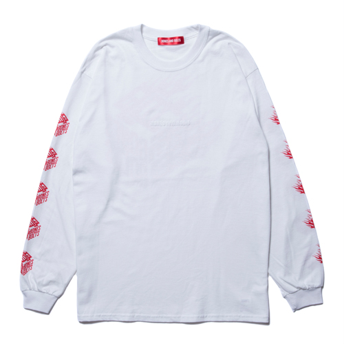L/S TEE (FLAMES BOX LOGO) ★30% OFF★
