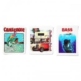 BASS STICKERS SET