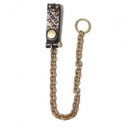 LEATHER STUDS WALLET CHAIN <NARROW CHAIN>