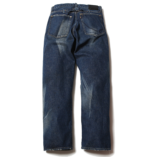 FIVE POCKET USED STRAIGHT DENIM PANTS [16ST006]